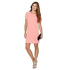 Red Herring - Peach crepe shift dress