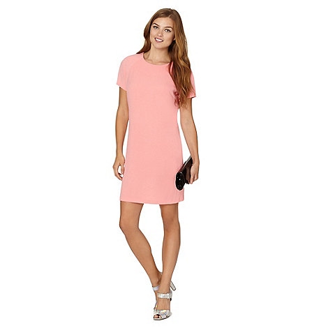 Red Herring - Peach crepe shift dress