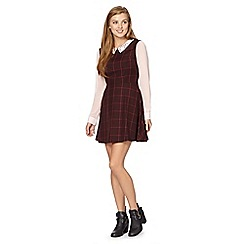 Red Herring - Burgundy check dress
