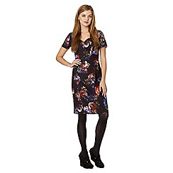 Red Herring - Black floral print shift dress