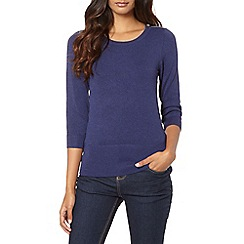 Red Herring - Dark blue zip shoulder jumper