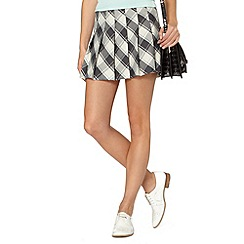 Red Herring - Grey pleated check skirt