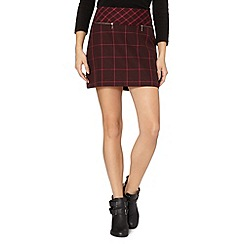 Red Herring - Plum checked mini skirt