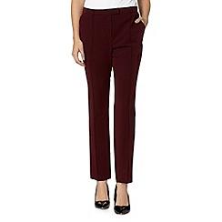 Red Herring - Wine tapered leg trousers