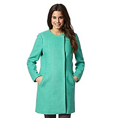 Red Herring - Green collarless textured coat