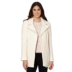 Red Herring - Ivory biker coat
