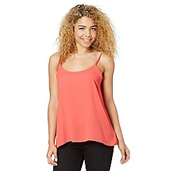 Red Herring - Dark peach pleat back cami top