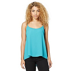 Red Herring - Turquoise pleat back cami top