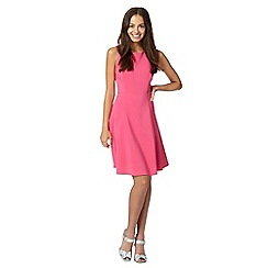 Red Herring - Bright pink fit and flare dress