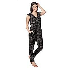 Red Herring - Black polka dot woven jumpsuit
