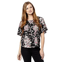 Red Herring - Black foil print top