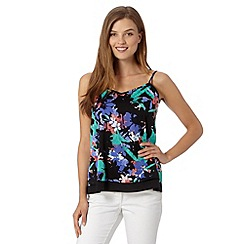Red Herring - Black floral camisole top