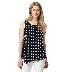 Red Herring - Navy polka dot layered top