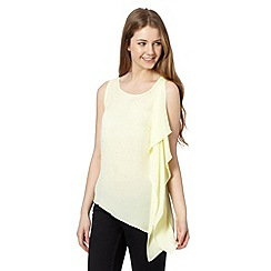 Red Herring - Pale yellow asymmetric vest top