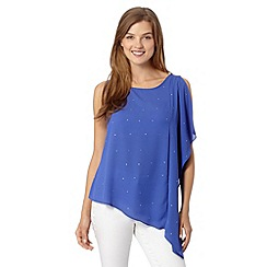 Red Herring - Dark blue asymmetric top