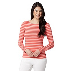 Red Herring - Orange long sleeved striped top