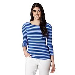 Red Herring - Blue long sleeved striped top