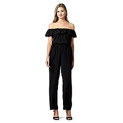 Red Herring - Black gypsy frill jumpsuit