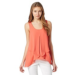 Red Herring - Dark peach asymmetric drape top