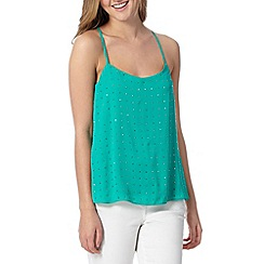 Red Herring - Green studded cami top