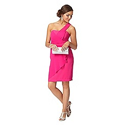 Instaglam by Red Herring - Pink one shoulder wrap dress