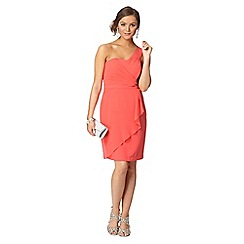 Instaglam by Red Herring - Peach one shoulder wrap dress