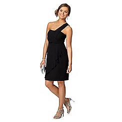 Instaglam by Red Herring - Black one shoulder wrap dress