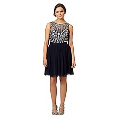 Instaglam by Red Herring - Navy embellished prom dress