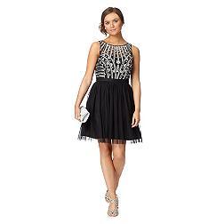 Black sequin mesh dress