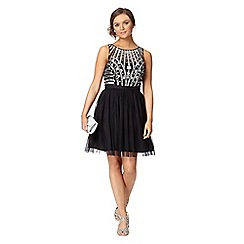 Instaglam by Red Herring - Black sequin mesh dress