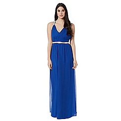 Instaglam by Red Herring - Royal blue sequin embellished ruched maxi dress