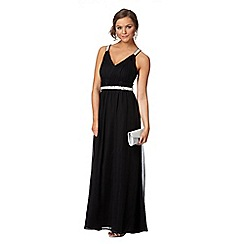 Instaglam by Red Herring - Black sequin embellished ruched maxi dress