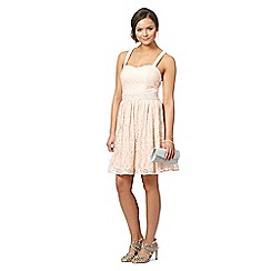 Instaglam by Red Herring - Light pink lace prom dress