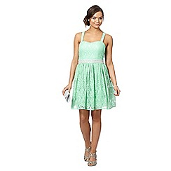 Instaglam by Red Herring - Light green lace prom dress