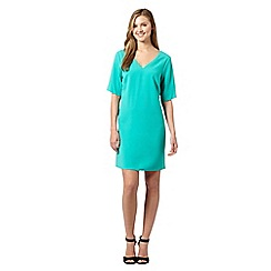 Red Herring - Green crepe V neck dress