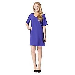 Red Herring - Purple crepe V neck dress