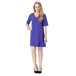 Red Herring - Purple crepe V neck dress