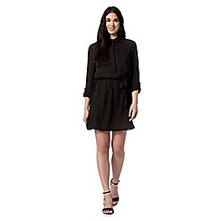 Red Herring - Black utility shirt dress