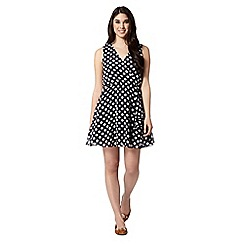 Red Herring - Dark blue polka dot shift dress