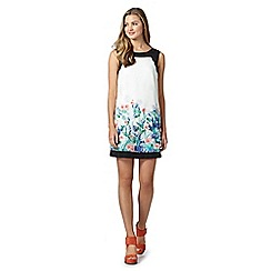 Red Herring - Ivory floral border dress