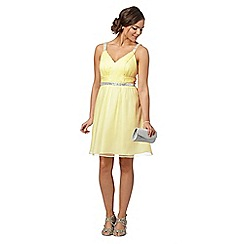 Instaglam by Red Herring - Light yellow embellished strap dress