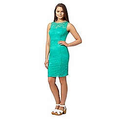 Red Herring - Green sleeveless lace dress