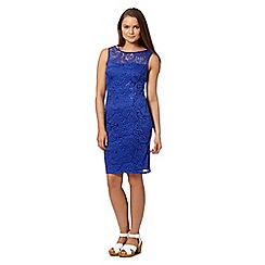 Red Herring - Bright blue sleeveless lace dress