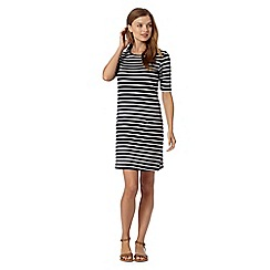 Red Herring - Navy striped tunic dress