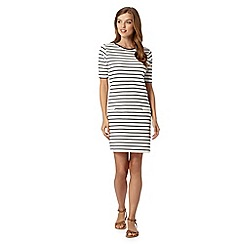 Red Herring - Ivory striped tunic dress