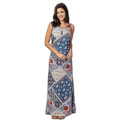 Red Herring - Blue paisley maxi dress