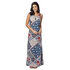 Red Herring - Blue paisley maxi dress