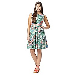 Red Herring - Light green tropical prom dress