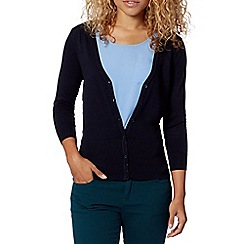 Red Herring - Navy V neck cardigan