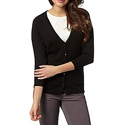 Red Herring - Black V neck cardigan